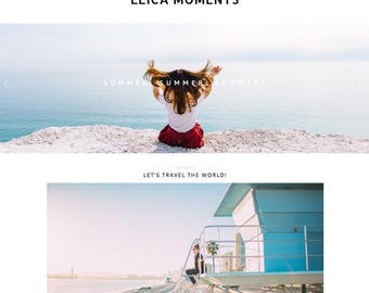 "Responsive Wordpress Theme ""My Leica Moments"" //  Photography Slider Instant Digital Download Premade Blog Theme Design"