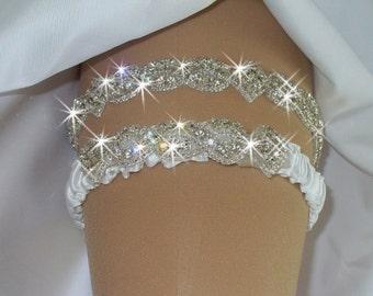 Weddings, Wedding Garter, Garter with Toss, Crystal Garters, Wedding Accessories, Bridal Garter, Rhinestone Wedding Garter, Wedding Garder