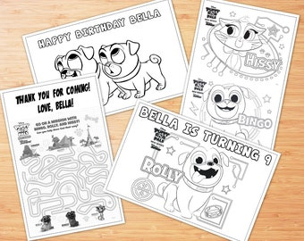 Puppy Dog Pals Coloring Pages, PDF File