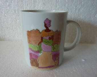 Mug avec un décor africain