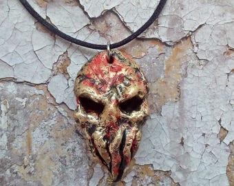 Handmade Octopus Skull Cthulhu Lovecraft Fantasy pendant necklace