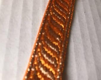 Double-sided orange Ribbon 18 mm