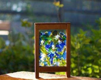 Sun Catcher Freestanding Kaleidoscope Sea Glass Suncatcher
