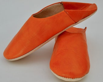 Moroccan Leather Babouche Slippers, Handcrafted, Handmade, Sheepskin Slippers, Leather Slippers, Babouche, Mules, Loafers, Women