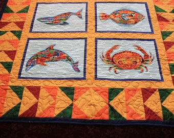 Quilt with Alaskan Fish