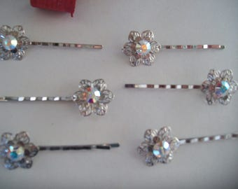 featuring a swarovski flower hair clip