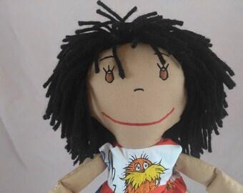 Soft Rag Doll, Shower or Girls Birthday gift, Embroidered Rag Doll Face, Custom Rag Dolls, Wedding Pair, Plush Doll, Stuffed Doll