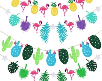 Flamingo Coconut Party Bunting Garland