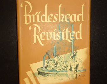 1945 BRIDESHEAD REVISITED by Evelyn Waugh, 1st US Edition First Printing, Dust Jacket, Very Good