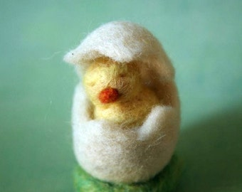Felted Egg with Little Chicken