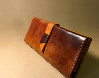 Elegant leather wallet, 100% handmade