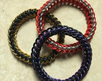 Half Persian stretchy chainmaille bracelet