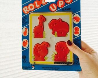 Safari Roll Ups Zoo Animals Game, 1979