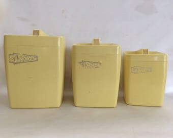 Mid Century Atomic Canister Set