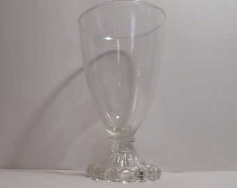 """Anchor Hocking Bubble Footed Clear 5 1/2"""" Water Glass, Clear Glass, Vintage, Antique, Berwick Boopie, fire king, Mistaken for Candlewick"""