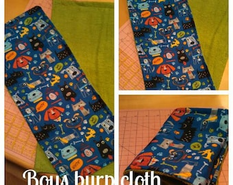 Set of 2 burp clothes for Boys