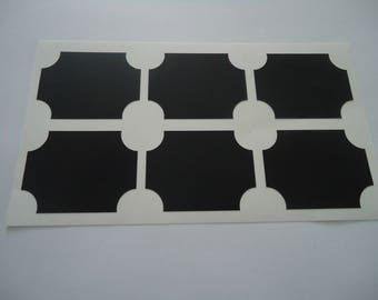 set of 6 STICKERS - slate - labels