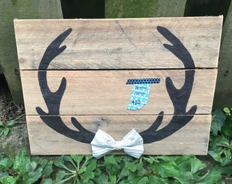 Bow Tie Antler Wall Hanging