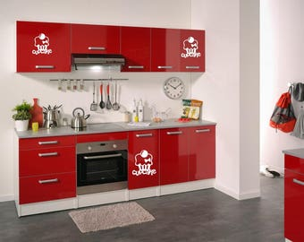 for Red kitchen wall decal