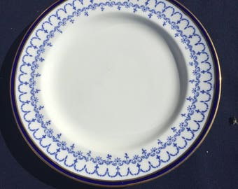 China Plate - Royal Crown Derby - white and Cobalt Blue - set of 4