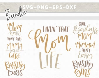 momlife svg bundle, handlettered svg, svg eps dxf png, svg files for cricut, mothers day cuttable, iron on cricut downloads cutfiles, mommin