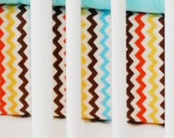 Multi Chevron Sante Fe | Fitted Crib Sheet