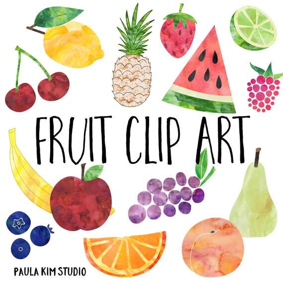 watercolor fruit clip art fruit clipart instant digital rh etsy com orange fruit clipart images free fruit clipart images