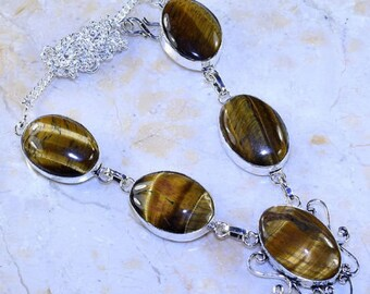 Necklace - ref51036 - silver - 51 GR - set of Tiger eye