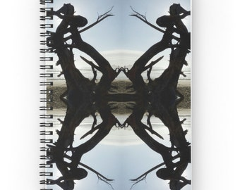 Native American Inspired Design Notebook ~ Abstract Photography ~ Masculine Gift for Him, Journal, Abstract Art Spiral Notebook, Organizer