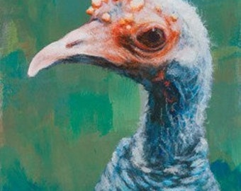 Ocellated Turkey - Giclée Print of original Acrylic Painting by Spring Hofeldt