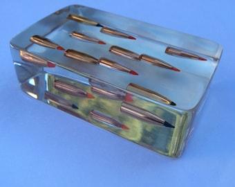 """Desktop Bullet Paperweight - """"The Matrix"""" - 5.56mm/.223 Caliber - AR15 Bullets - Hornady Ammo"""