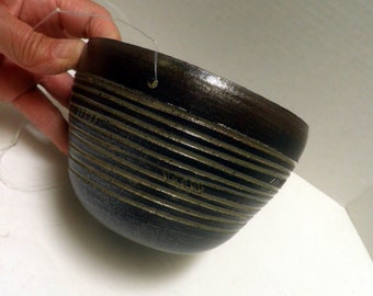 handmade Stoneware SGRAFITTO hanging Planter, pottery Plant pot, Earthy Modern Decor