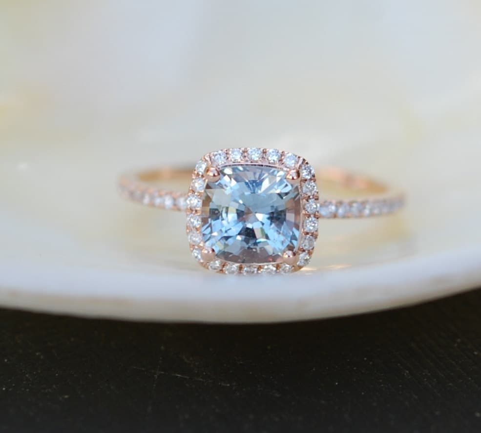diamond engagement green rings bezel jewelry sapphire with ring set montana diamonds products earth rare or and blue halo