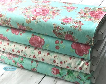 Free Spirit Fabrics - Sugar Bloom Bundle (4 Fabrics) by Verna Mosquera - Individual Fabrics Available