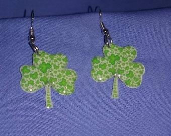 St. Patrick's Day Shamrock earrings.