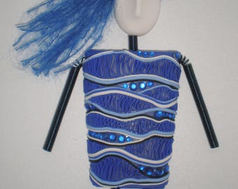Waves of Blue Lady Magnet