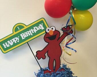 Sesame Street, Elmo, Cookie Monster Birthday Decorations, Sesame Street, Elmo, Cookie Monster Centerpieces