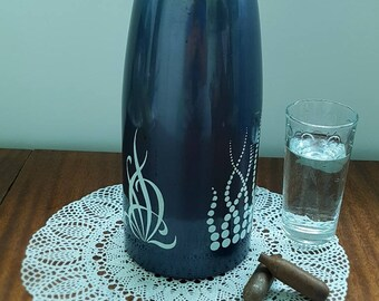 Soda Siphon - Seltzer Bottle - Vintage Soda Bottle - Siphon Seltzer Bottle - Soda Maker - Sparklets Soda Siphon - Soviet Metal Siphon