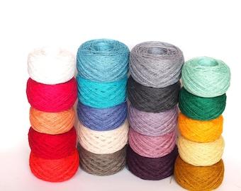 20 Balls LINEN YARN, 100% Linen Yarn Various Colors, High Quality Linen Yarn, Crochet, Knitting Linen Yarn, 1kg/1000g (35oz)