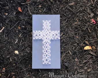 Cross String Art Sign | MADE TO ORDER