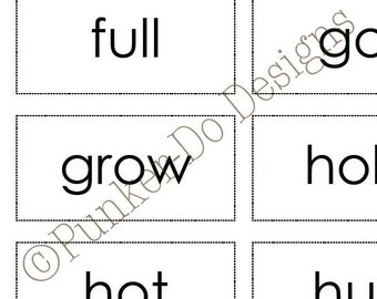 Third Grade Sight Word Dolch flash cards - Instant Download Printable PDF - by Punker-do Designs - Classroom & Homeschool