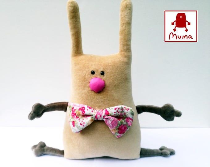 Muma Rose Easter Bunny Plushie, Little Pocket Rabbit Stuffie Toy, Funny Bunny Pocket Plush