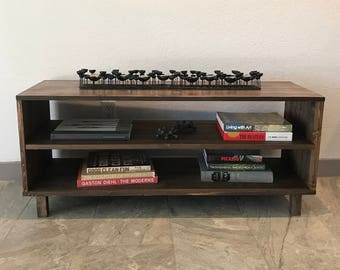 Modern Media Console with Shelf, Storage, Cabinet, Credenza, Mid Century, Coffee Table, Hairpin Legs, TV, Entertainment
