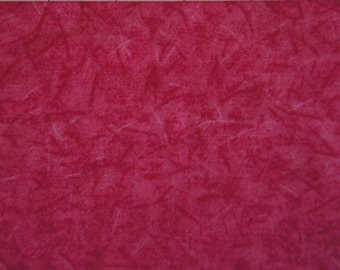 """Over 1 Yd RED and PINK Batik Small Calico Cotton Quilting Fabric 44"""" X 44"""" Holiday Crafting"""