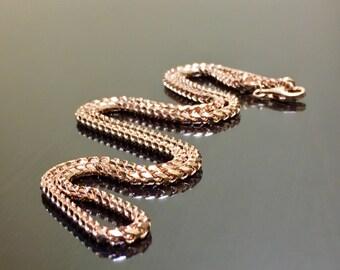 14K Rose Gold Necklace - Rose Gold Franco Chain - Franco Rose Gold Chain - 14K Gold Necklace - Gold Franco Necklace - 14K Gold Franco Chain