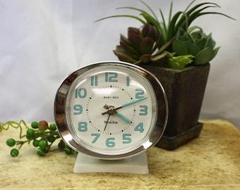 White Baby Ben Wind Up Alarm Clock by Westclox