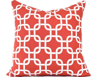 Pillow Covers ANY SIZE Decorative Pillow Cover Coral Pillow Salmon Pillow Premier Prints Gotcha Coral