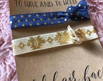 Here comes the Bride: Hair Tie/Bracelet package