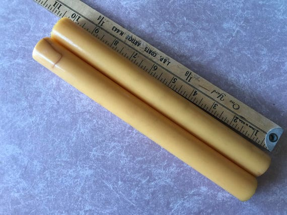 Special Listing - 2  Vintage Bakelite Creamed Corn Ring Tube rods for Making Jewelry