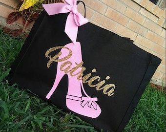 High Heel Canvas Tote | Personalized Tote Bag | Canvas Bag | Personalized Canvas Tote | Handbag